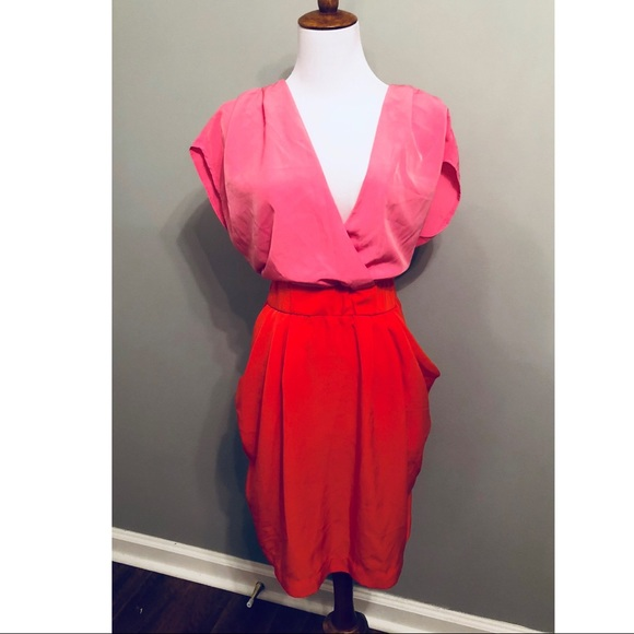 H&M Dresses   Hm Plus Size Color Block Dress   Poshmark